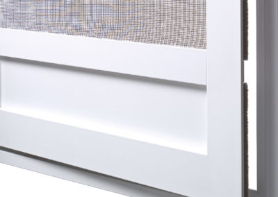 Insektengitter Drehtür mit Trittschutzblech